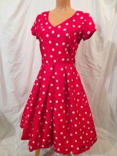 Bombshell Retro Party Dress - red polka dot - $29.99 at JOHNNY BOMBSHELL #retro #rockabilly #holiday