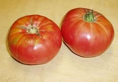 Heirloom Brandywine tomatoes, just like the ones I grow.