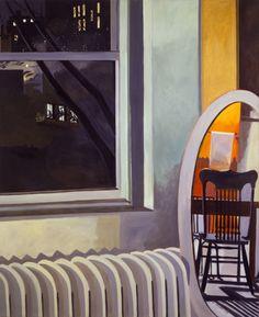 thunderstruck9:  Lois Dodd (American, b. 1927), Night Sky Loft, 1972-73. Oil on linen, 66 x 54 in.