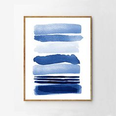 Abstract Watercolor Blue Painting Stripes Indigo Blue Wall art Navy Lines Minimalist art Minimal Watercolor Large Abstract Print Geometric Watercolor Paintings Abstract, Blue Painting, Abstract Canvas Art, Blue Abstract, Ink Painting, Modern Art Prints, Wall Art Prints, Geometric Wall Art, Blue Art