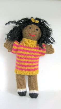 Hand-knit stuffed toys