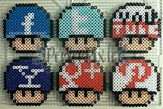 Social Network mushrooms perler beads by PerlerPixie