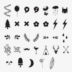 DIY Symbol Set voor Lightbox van A Little Lovely Company