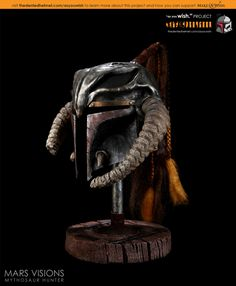 "Reimagined Boba Fett Helmet titled ""Mythosaur Hunter"" by MARS Visions 