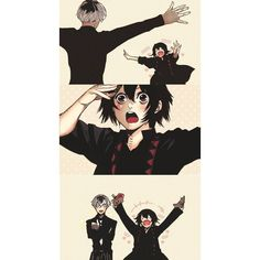 *Crazy Fujoshi* - Kaneki Juuzou are here adorable. Especially Juuzou but what the fracas and there's a cute Kaneki - Manga Anime, Art Manga, Anime Art, Anime Love, Anime Guys, Image Tokyo Ghoul, Ken Kaneki Tokyo Ghoul, Tokyo Ghoul Manga, Tokyo Ghoul Wallpapers