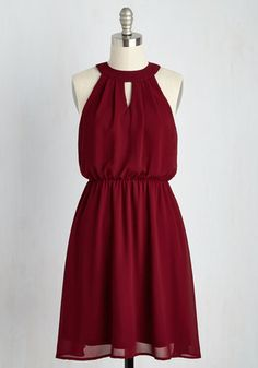 City Sway Dress in Wine. Dance your way to every destination in this fabulous burgundy dress! #gold #prom #modcloth