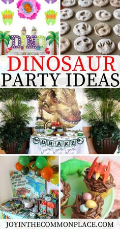 Do you love a good Dinosaur party theme? Take a look at some prehistoric Dinosaur party decoration ideas, party food, DIYs and fun kids' activities. From girly party ideas to easy Dinosaur snacks, there is a bit of inspiration for everyone!  #dinosaur #dinosaurparty #dino #kidsparty #partytheme #bridalshower #fossils #kidsactivities #kidssnacks #dinosaursnacks #snackideas #partyideas #partybackdrop #banners #printables #partyprintables #trex #prehistoric #partydecorations #partysupplies