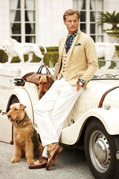 RL, always classy. Aristocratic looking and a wonderful inspiration for a male doll in miniature. I love just about ANYTHING by Ralph Lauren Mode Masculine, Sharp Dressed Man, Well Dressed Men, Estilo Club, Estilo Ivy, Ralph Lauren, Fashion Moda, Mens Fashion, Club Fashion