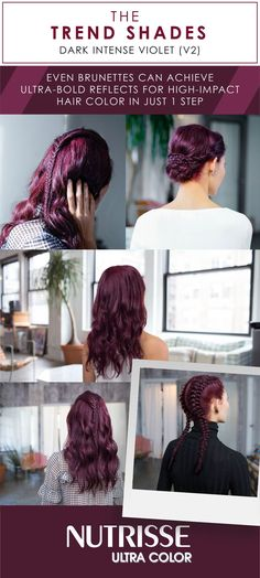 Make a bold statement with the hottest hair color shades of the moment. Choose from Light Cool Denim, Dark Intense Indigo, and Dark Intense Violet.