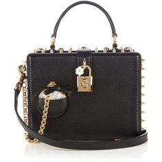 Dolce & Gabbana Dolce Box Pocket Watch leather bag ($2,625) ❤ liked on Polyvore featuring bags, handbags, shoulder bags, black, leather shoulder bag, 100 leather handbags, dolce gabbana purses, leather shoulder handbags and real leather purses