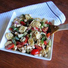 Caprese Tortellini Pasta Salad | Rumbly in my Tumbly