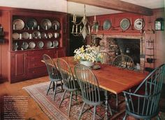 early american life magazine   insite home... / from early american life magazine ~ love the pewter ...