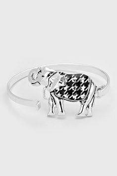 Elephant Bracelet in Chic Houndstooth | Women's Clothes, Casual Dresses, Fashion Earrings & Accessories | Emma Stine Limited