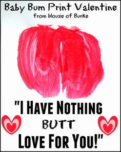 Baby Bum Print Valentines - House of Burke
