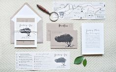 Can stationery be art? Because we kinda want to frame Suite Paperie's invitations ... Click on the image to learn more about this amazingly talented design studio. #wedding #stationery #invitations