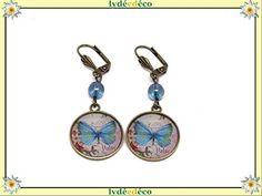 Boucles d/'oreilles boule rose bleue ou verte IDÉE CADEAU