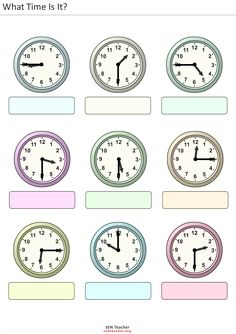 clock workheet   Half hour and hour bingo worksheets Car Bingo Here are two different ...