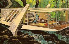 mid-century modern illustration