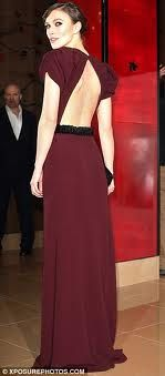 keira knightly burgundy dress