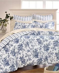 Martha Stewart Collection Cozy Toile Cotton Reversible Twin Duvet Cover, Created for Macy's Bed & Bath - Duvet Covers - Macy's King Duvet, Queen Duvet, Mattress Brands, Space Furniture, Quilt Sets, Dresses With Leggings, Martha Stewart, Luxury Bedding, Comforters