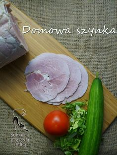 Domowa-szynka-z-szynkowara Cantaloupe, Sausage, Food And Drink, Pasta, Homemade, Meat, Vegetables, Fruit, Ethnic Recipes