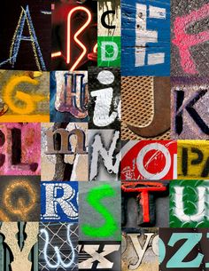 I love all the texture & color in this alphabet picture