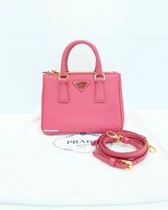 Brand New !! PRADA Saffiano Lux Mini - Peonia please..Contact #prada #pradasaffiano #saffiano #saffianomini #peonia #pink #pradasaffianolux #saffianolux #mini #accessories #sbn #siambrandname #sellier #sretsis #shopping #fashionnista #authentic #luxurybrands #luxuryaccesories #hiend #hiendbrandname #brandnamelover #promote #promotefree #ตามหา #bsbrandshop