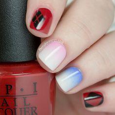 Harley Quinn Squad Nail Art Uk Nails Manicure Love