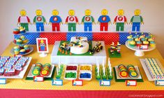 With an emphasis on color and Legos , this party really stacks up!! The vibrant colors and mix of...