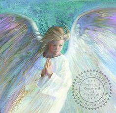 Portrait of Angel in White - Angel - The Sanctuary: The Art of Nancy Noel