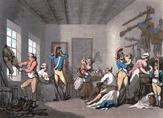 """English Barracks,"" by Thomas Rowlandson, circa 1788"