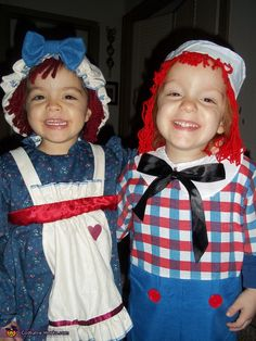Raggedy Anne u0026 Andy - Halloween Costume Contest at Costume-Works.com  sc 1 st  Pinterest & Baby doll hat raggedy ann and andy costume newborn twin baby boy and ...