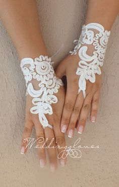 Wedding Gloves Elegant ivory embroidered with pearls lace bridal gloves French lace wedding gloves Soft and delicate Made with love to make your special day a fairytale Each custom-made suitable Ivory Wedding, White Wedding Dresses, Barefoot Wedding, Bare Foot Sandals, Beach Sandals, Hand Gloves, Wedding Gloves, Pearl And Lace, French Lace