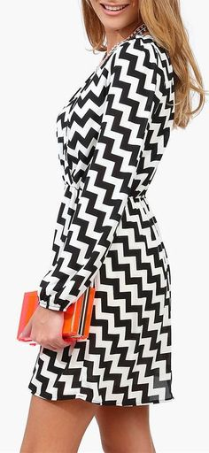 Monochrome - such a big trend for this summer, and so easy to accessorise with a pop of colour!
