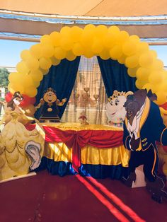 Disney Princess Birthday Party, Princess Theme Party, Girls Birthday Party Themes, Baby Girl First Birthday, Kids Party Themes, Party Ideas, Beauty And Beast Birthday, Beauty And The Beast Theme, Beauty And Beast Wedding