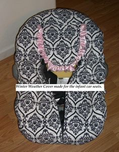 Winter weather infant Car seat cover by ohsewdarlingcustoms, $49.99