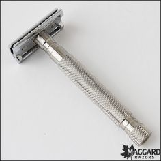 Maggard Razors MR6 Heavy Stainless Steel Handle Safety Razor | Maggard Razors - Straight Razor Restoration, Custom Scales and Wet Shaving Products