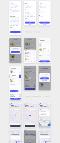 Delyo is a delivery mobile UI Kit for iOS with more than 80 screens in two color schemes. Each screen is fully customizable, exceptionally easy to use and Android App Design, App Ui Design, Interface Design, App Map, Ui Design Mobile, Tracking App, Delivery App, App Design Inspiration, Apps