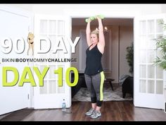 Weight Lifters with 1min ab challenge! DAY 10: Bikini Body Mommy Challenge - YouTube
