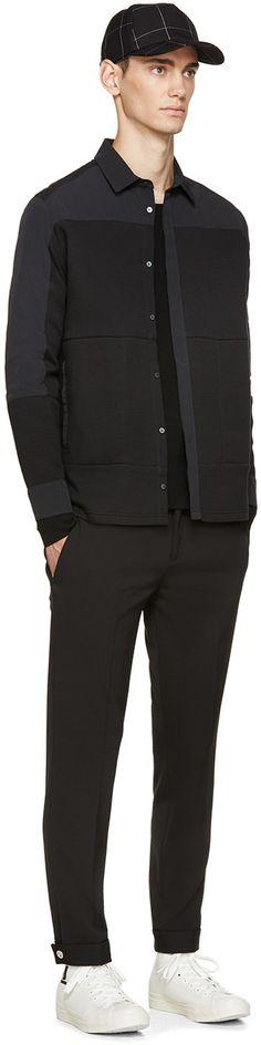 Tim Coppens Black Multifrabric Shirt