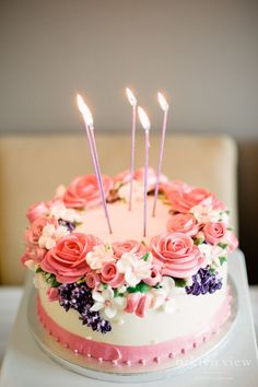 the prettiest birthday cake ever! #flowercakes
