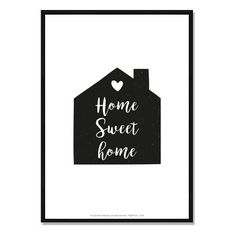 Affiche La Maison - Home Sweet Home - A télécharger : Affiches, illustrations…