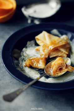 Crêpe Suzette - Perfect for today since it's National Pastry Day...as if I needed a reason!