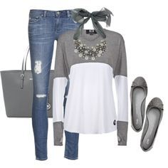 Cute Outfit but needs another pair of flats, I hate the ones with the bows on top