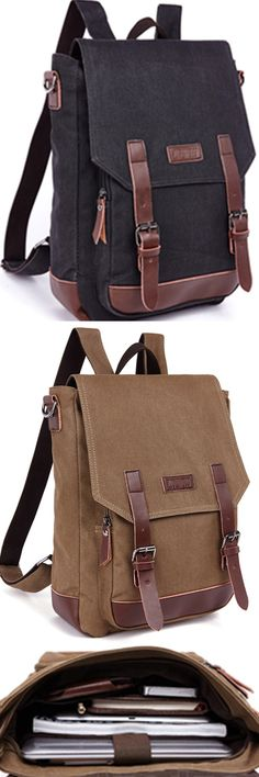 8168235369 Men s backpacks style fashion casual canvas backpack loptop bag school bags  for male travel bag Bagail