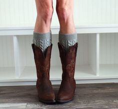 A personal favorite from my Etsy shop https://www.etsy.com/listing/208653565/womens-knit-boot-cuffs-womens-grey-boot
