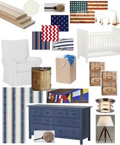 Little boy nursery from Project Shannon. #nautical #Americana