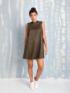 Fracomina A-line olive dress