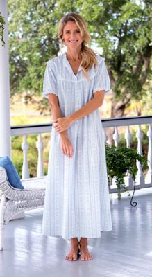 Lanz Tyrolean Cotton Lawn Nightgown