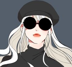 Uploaded by Wendy. Find images and videos about black, hipster and sunglasses on We Heart It - the app to get lost in what you love. 5 Anime, Chica Anime Manga, Manga Girl, Anime Art Girl, Aesthetic Art, Aesthetic Anime, Character Inspiration, Character Art, Cartoon Profile Pics